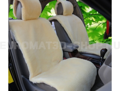 Накидка на сиденья автомобиля из искусственного меха Euromat|Tex (бежевая) № EUSH-004001