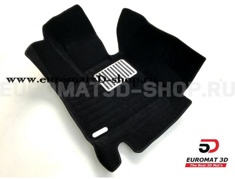 Текстильные 5D коврики с высоким бортом Euromat3D в салон для Bmw X6 (F16) (2015-) № EM5D-001215