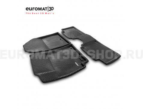 3D коврики Euromat3D EVA в салон для Hyundai Elantra (2016-2020) № EM3DEVA-002702