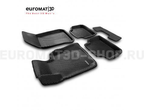 3D коврики Euromat3D EVA в салон для Bmw 3 (E90) (2007-2010) № EM3DEVA-001208